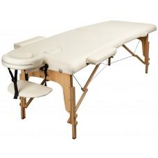 Массажный стол Atlas Sport складной 2-с деревянный кремовый