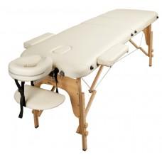 Массажный стол Atlas Sport 60 см складной 3-с деревянный + сумка в подарок (белый)