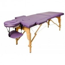 Массажный стол Atlas Sport 60 см складной 3-с деревянный + сумка в подарок (фиолетовый)