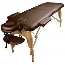 Массажный стол Atlas Sport 60 см складной 3-с деревянный + сумка в подарок (коричневый)