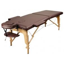 Массажный стол Atlas Sport складной 2-с деревянный 70 см (темно-коричневый)