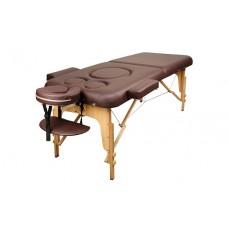 Массажный стол для беременных Atlas Sport 70 см складной 2-с деревянный (коричневый)