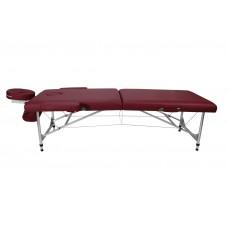 Массажный стол складной Atlas sport 60 см 3-с алюминиевый  (коричневый)